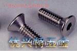 不锈钢沉头内六角螺栓、平头螺丝