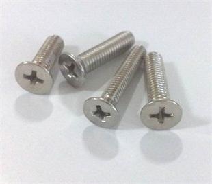 不锈钢沉头十字机螺丝、机螺丝