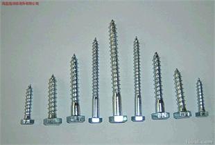 不锈钢六角木螺钉。DIN571