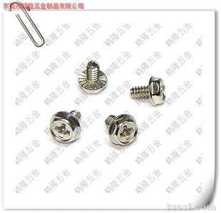 专业生产电脑螺丝 外六角电脑机箱螺丝6#-32*6 三角牙 侧板螺丝