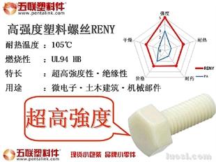 现货零售五联高强度塑料螺丝Reny1只起卖