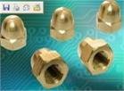 生产供应铜盖形螺母1000只批订