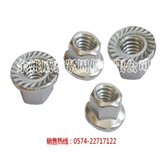 不锈钢六角法兰面螺母/带防滑齿法兰螺母/法兰螺帽/DIN6923/GB6177