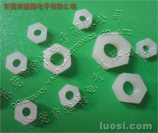 M10塑胶螺母,M10*1.5尼龙白色螺栓东莞厂家,M10绝缘防腐不导电六角螺母