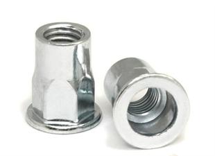 供应304不锈钢平头半六角铆螺母  拉帽 拉母 拉铆螺母