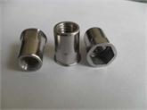 供应304不锈钢小沉头内外半六角铆螺母M4-M10 拉帽 拉母 拉铆螺母