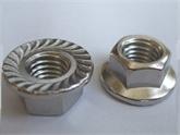 供应DIN6923不锈钢六角法兰面螺母M3-M24-SUS304 法兰螺母 花齿螺母