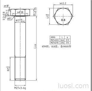 M27六角螺栓