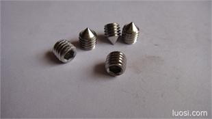 不锈钢304紧订螺丝,尖端,平端,凸端