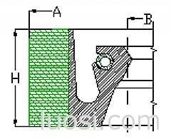 供应J型(形)/U型/V形夹布油封