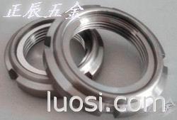 台湾进口全金属锁紧圆螺母 ,金属轴承钢片圆螺母
