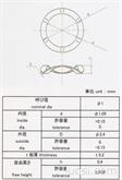 精密波形垫圈 微型不锈钢波形垫圈 内径1mm波形弹簧垫圈
