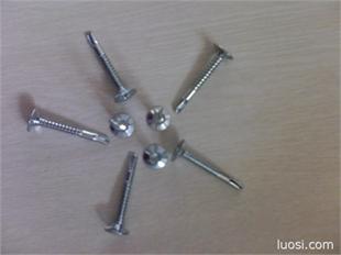 十字平头带6榫钻尾螺钉, 平头螺钉,沉头螺钉,带6横杠螺钉,钻尾螺钉