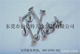 专业生产不锈钢钻尾螺丝(SUS410圆头华司钻尾8#-18*25)