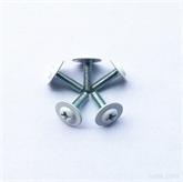 装饰螺\丝螺钉环保彩锌机牙螺丝 头点白胶螺丝,带垫片一体小螺钉