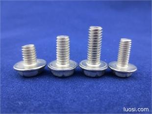 法兰螺丝 法兰螺丝 六角带垫十字螺丝 不锈钢螺丝厂家批发