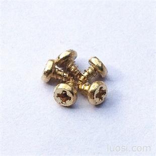 厂家促销盘头自攻螺丝 精密镀铜螺丝 电器螺丝,小螺钉