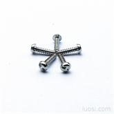防盗防拆螺丝钉,H槽平圆垫圈头螺丝;插头螺丝,电源开关螺钉,环保白锌螺丝 PW5.5B3*12