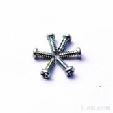 不锈钢小螺钉,环保彩锌螺丝;十字槽平尾自攻螺丝,机牙螺钉 PB2*6