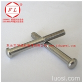 不锈钢紧固件|非标半圆头粗杆螺栓