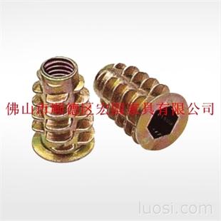合金镀锌 内外牙螺帽 带介螺母 梯形有介母 五金紧固件