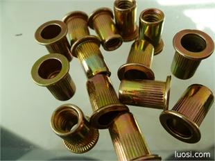 GB17880平头条纹铆螺母(主营六角螺母,法兰螺母,开槽螺母,尼龙锁紧,接头螺母,铆螺母