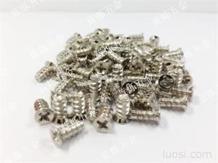 自产镀镍风机螺丝机箱散热风扇螺丝粗牙自攻螺丝M5*10、M5*16