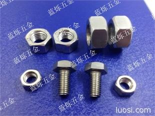 现货304不锈钢反牙螺丝反扣螺丝左旋螺丝螺帽六角螺栓螺母M4--M24 单只