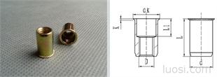 小沉头圆柱铆螺母