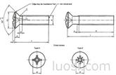 304/316不锈钢十字槽半沉头螺钉螺丝/机械螺丝机钉 DIN966/GB820/ ISO7047
