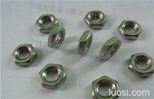 国标GB6172标准六角薄螺母,  德制DIN439德标六角薄螺帽库存销售