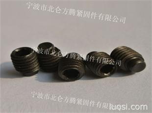 合金钢40Cr材质内六角圆柱端紧定螺丝,通止规DIN915圆柱端机米螺钉
