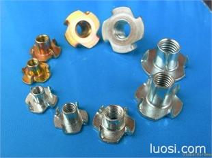 供应四角钉螺母、四爪螺母、家具螺母、冷镦四角钉、镀锌四角钉