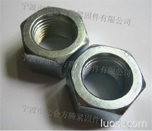 热镦淬火处理GB6170六角螺帽, 45K热处理8级六角螺母M27-M100现货供应