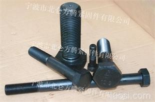 国标GB5781标准六角全螺纹螺栓, 大批量库存4.8级兰白锌, 发黑表色