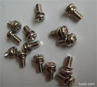 带弹垫螺丝钉 带平垫或弹组合螺丝 专业二组合螺钉供应 创固厂家