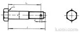 不锈钢六角头螺杆带孔铰制孔用螺栓