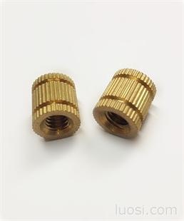 前景供应 嵌件螺母 嵌件铜螺母 非标铜件 加工定做