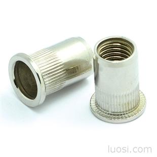 不锈钢开口型圆柱平头铆螺母M3-M12