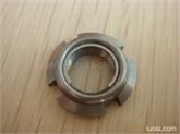 供应AN00进口钢片自锁圆螺母 全金属锁紧轴承螺母M10*0.75