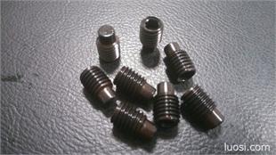 DIN915公制12.9级内六角凸端无头螺丝紧定机米顶丝