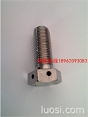 不锈钢六角头头部带孔螺栓  螺杆带孔螺栓  带孔螺栓  GB32.1  GB31.1