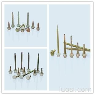 厂家直销六角法兰面自钻自攻螺钉(自钻螺钉)、彩板钉、尼龙头自钻、木螺钉GB15856.4