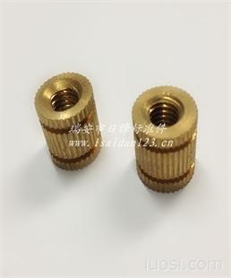 日锋铜件 预埋铜螺母 注塑嵌件铜螺母 非标铜螺母 定做