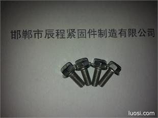 厂家低价供应优质8*35镀彩防滑纹法兰面螺栓