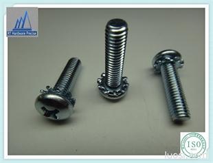 厂家现货低价供应  盘头十字带花齿机械螺丝