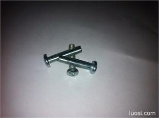厂家大量低价供应M5*25圆头十字螺杆 盘头十字螺丝 大扁头螺丝
