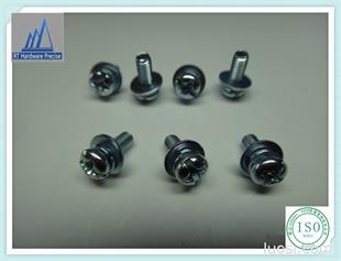 厂家现货低价供应  十字盘头带弹垫垫片组合螺丝 镀锌组合螺丝