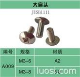 十字槽大扁头螺钉JIS B 1111-1996
