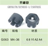 六角开槽螺母—产品等级C级DIN 935-3